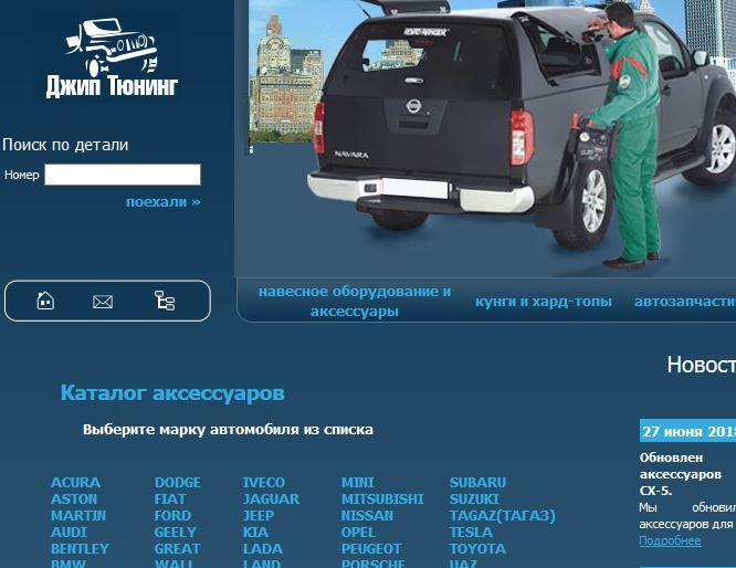 Продвижение сайта кунгов и аксессуаров для внедорожников